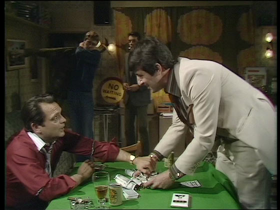 Only Fools and Horses poker table in A Losing Streak