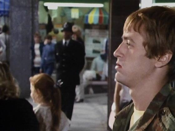 Rodney ignoring a policeman